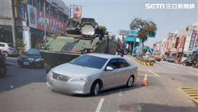雲豹裝甲車,擦撞,轎車,桃園,翻攝畫面