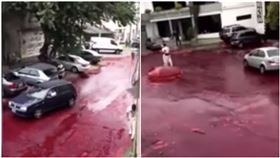突傳爆炸聲!居民一看驚…「50萬升鮮血流出」影片曝光(圖/翻攝自Myo Min Po YouTube)