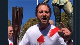 奧運聖火原定要在希臘國內傳遞。(圖/翻攝自推特)