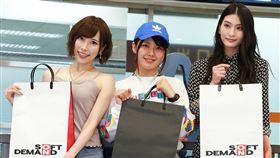 SOD人氣AV女優七海蒂娜(左起)、小泉日向、本庄鈴。(圖/SOD提供)
