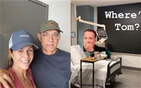 武漢肺炎(COVID-19、新冠肺炎)/湯姆漢克斯(Tom Hanks)與妻子麗塔威森,在澳洲黃金海岸大學醫院接受隔離治療/跟他們同醫院的確診病患曬出病房照片。IG