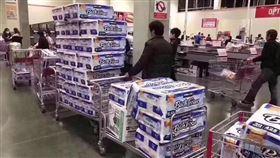 衛生紙,美國,好市多,搶購,進貨(圖/翻攝自臉書