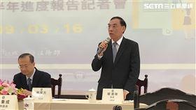 ▲法務部長蔡清祥強調,台灣法律目前還未廢除死刑,呼籲「別再害人害己」。(圖/記者楊佩琪攝)
