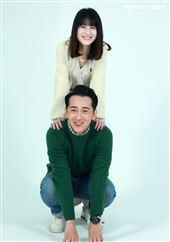 LINE TV「黑喵知情」演員連俞涵、施名帥。(記者邱榮吉/攝影)