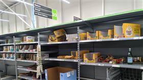 超市,掃貨,防疫,適者生存,英國,武漢肺炎(翻攝自 PTT)