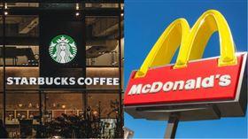 美國麥當勞和星巴克宣布關閉所有座位m(組合圖/資料照)