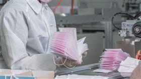 蔡英文參觀口罩工廠(總統府提供)