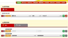 ▲台灣運彩開賣賽事。(圖/取自台灣運彩官網)