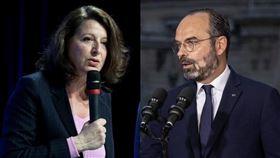 法國3位醫師19日對總理菲力普(右)與前衛生部長布辛(左)提出集體訴訟,狀告兩人失職。 (右圖取自facebook.com/EdouardPhilippePM,左圖取自facebook.com/agnesbuzyn)