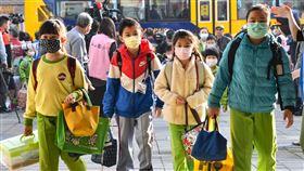高中職以下學校開學  小朋友戴口罩全國高中職以下學校25日開學,各校依據SOP進行防疫準備,用最嚴謹的態度維護師生健康,學童也都戴口罩上學。中央社記者林俊耀攝  109年2月25日