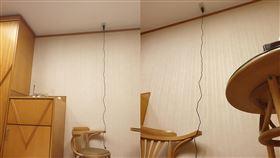 插座,天花板,汽旅,照明燈,充電(翻攝自 爆廢公社)