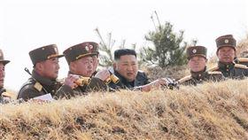 官媒北韓中央通信社表示,北韓領導人金正恩21日指導北韓軍方的聯合部隊進行砲兵火力競賽。(圖取自北韓中央通信社網頁kcna.kp)
