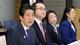 日本首相安倍晉三(左一)。(圖/翻攝自首相官邸推特)