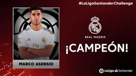 ▲皇家馬德里代表阿森西奧(Marco Asensio)拿下冠軍。(圖/截取自推特)