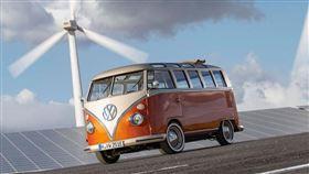 ▲福斯將T1廂型車改造成電動車。(圖/翻攝Volkswagen網站)