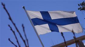 芬蘭,國旗(圖/Pixabay)