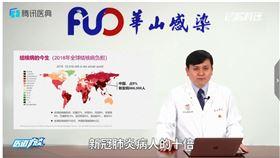中國感染科權威張文宏,指出結核病為武肺10倍,呼籲大家應重視。(圖/翻攝自微博)