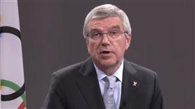 ▲IOC主席巴赫接受NBC專訪談奧運延期。(圖/取自推特)