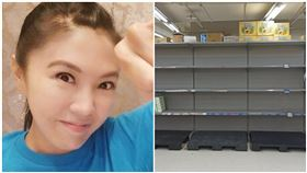 從大陸返台…劉樂妍逛台北賣場:來搶衛生紙。(圖/翻攝自劉樂妍微博)