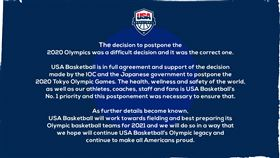 奧運延期 「復仇者」美國男籃發聲明 美國男籃,奧運,國際奧會,武漢肺炎 翻攝自推特