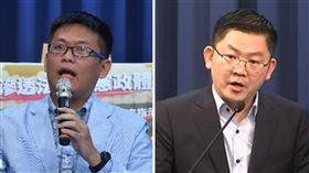 新媒體部呂謦煒(左)藍營智庫研究員黃心華(右)