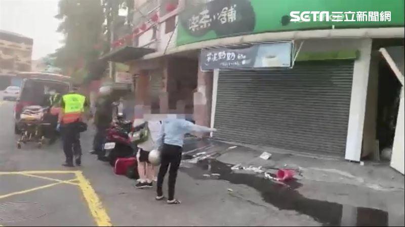 疑瓦斯外洩…台中飲料店突氣爆 2女高中生等車遭波及送醫