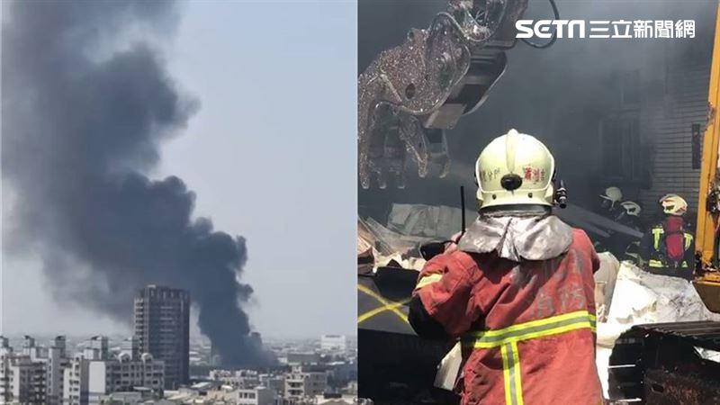 上百警消搶救中!彰化衛生紙工廠大火 百坪原料慘燒成灰