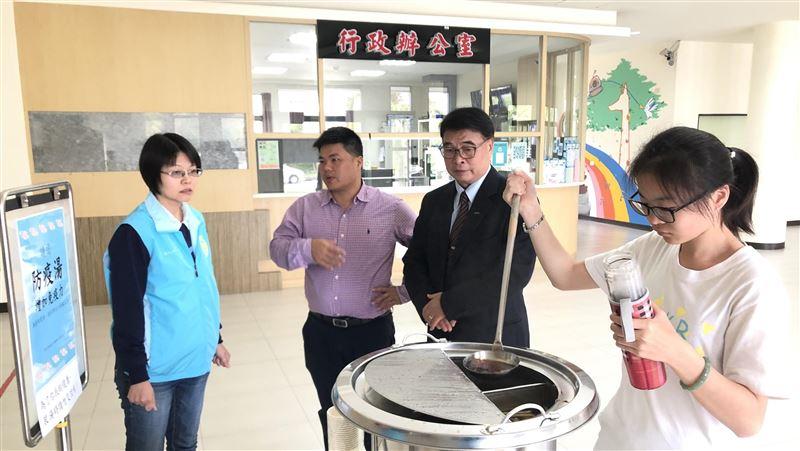 台東大學特調防疫湯 每週替學子暖胃防疫