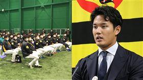 ▲阪神虎包括投手藤浪晉太郎(右)在內,共3選手確診武漢肺炎。(圖/翻攝自阪神虎推特)