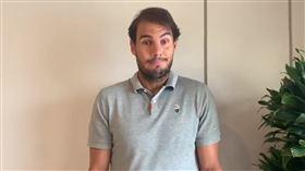 Rafael Nadal拍攝影片號召募捐活动。(圖/翻攝自Nadal推特)