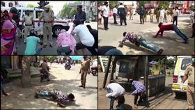 印度,禁足,民眾,懲罰,伏地挺身,交互蹲跳