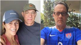 湯姆漢克斯(Tom Hanks)IG帳號PO出與妻合照,確診感染武肺。(圖/翻攝自IG @Tomhanks)