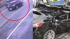 宜蘭,車禍,競速,貨車,自撞(圖/翻攝畫面) 來源 記者