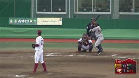 ▲王彥程練習賽對巨人1.2局無失分。(圖/翻攝自太平洋聯盟TV)