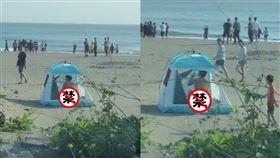 帳篷,沙灘,海邊,小弟弟,爆廢公社