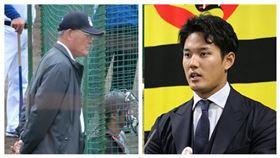▲知名球評張本勳(左)、阪神虎投手藤浪晉太郎(右)。(圖/翻攝自推特)