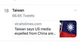 美國,推特,熱搜,台灣,WHO(圖/翻攝自PTT)