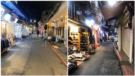 假日晚上不到10人!士林夜市慘況曝光 一堆店家鐵門拉下。(圖/翻攝自爆廢公社二館)