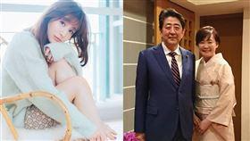 田中美奈實(左)狠批首相夫人安倍昭惠。(圖/翻攝自推特)