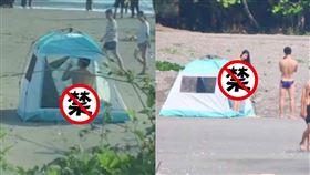 漁光島,帳篷,情侶,激戰,沙灘,正面照,女主角