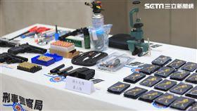 刑事局,肅槍,改造槍枝 記者李依璇攝影