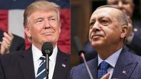 川普(左)和艾爾段(右)同意兩國共同抗疫。(圖/翻攝自President Trump、Recep Tayyip Erdoğan推特)