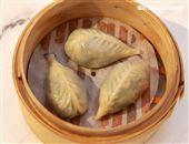 小三元精緻港點「清江菜蒸餃」。(記者邱榮吉/攝影)