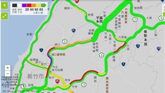 新/國道一早南下紫爆 時速15公里