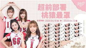 Rakuten Girls版造型口罩。(圖/樂天桃猿提供)