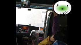 乘客,腳趾,翹腳,客運,衛生,危險