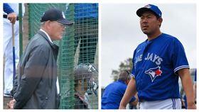 ▲日本知名球評張本勳(左)、美國職棒藍鳥隊山口俊(右)。(圖/翻攝自推特)