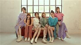 女團「PER6IX」成員李紫嫣(左起)、馬瑋伶、申力安、王加瑄、彭名慧、林采婕。(圖/喜歡音樂提供)