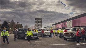 ▲Jaguar Land Rover防疫車隊(圖/Jaguar Land Rover提供)
