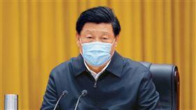 習近平,武漢肺炎,口罩 圖翻攝自新華社